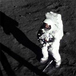 Neil Armstrong's first moonwalk