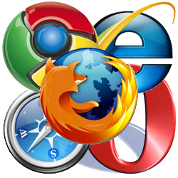 a collection of web browsers