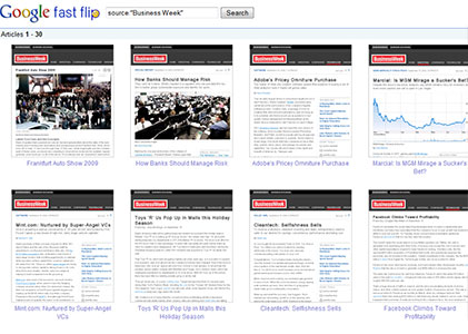 Google Fast Flip topic view