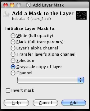 Adding a layer mask