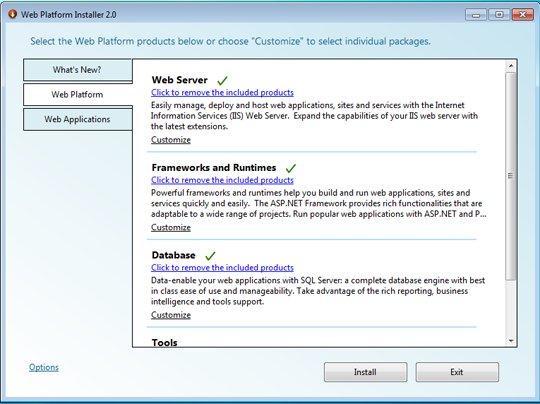 The Web Platform Installer