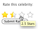 Star rating control
