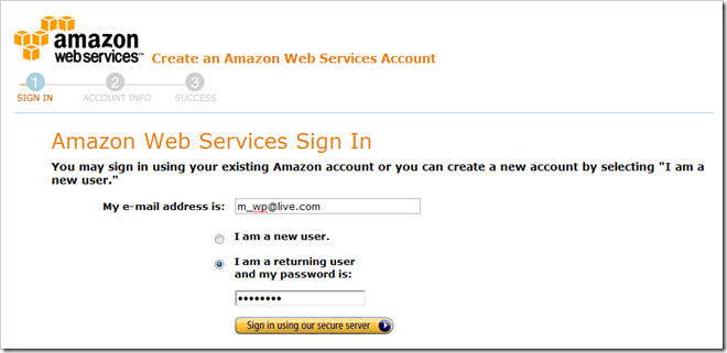 Using your existing Amazon sign-in