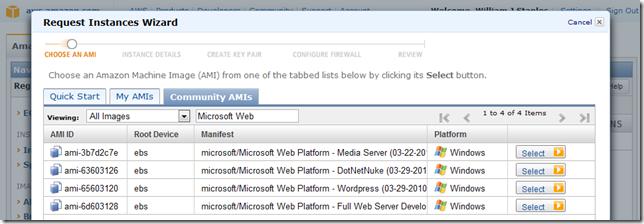 Microsoft Web Platform AMIs