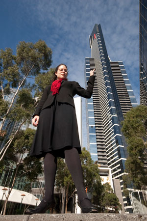 A person can appear as tall as the tallest building