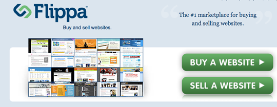 Flippa.com's home page header