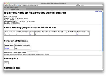 The Hadoop JobTracker