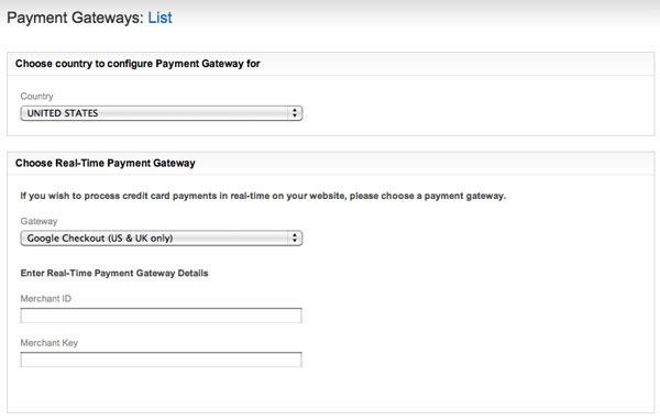 Configuring Payment Gateways