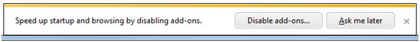 Add-on Notification Bar courtesy IEBlog