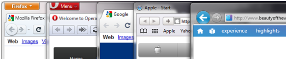 Menu bar height (Firefox 4b6, Opera 10.62, Chrome 6.0.472.63, Safari 5.0.2 and IE9 Beta)