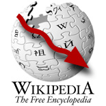 Wikipedia usage reducing