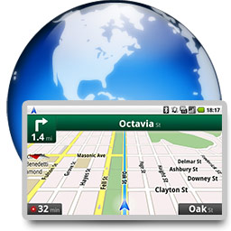 web-based satnav