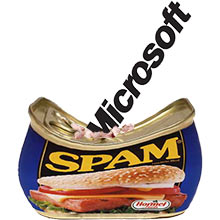 Microsoft hits spam