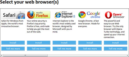 Microsoft Browser Choice Screen
