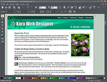 Xara Web Designer 6 screenshot