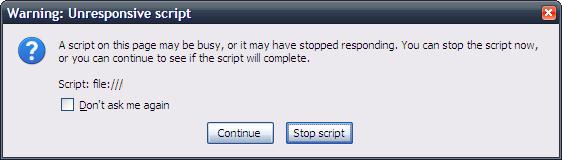 Unresponsive Script