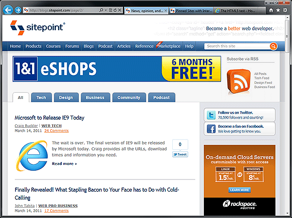 IE9 screenshot 1