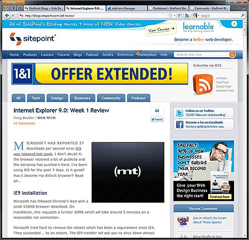 Firefox 4 screenshot