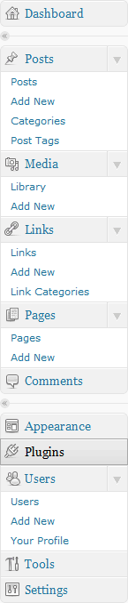 WordPress menu