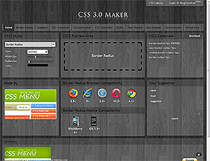 CSS 3.0 Maker screenshot