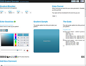 CSS3 Gradient Generator screenshot