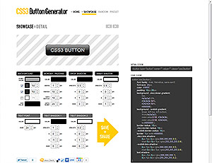 CSS3 Button Generator screenshot