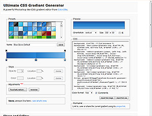 Ultimate CSS Gradient Generator screenshot