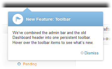 WordPress 3.3 feature pointers