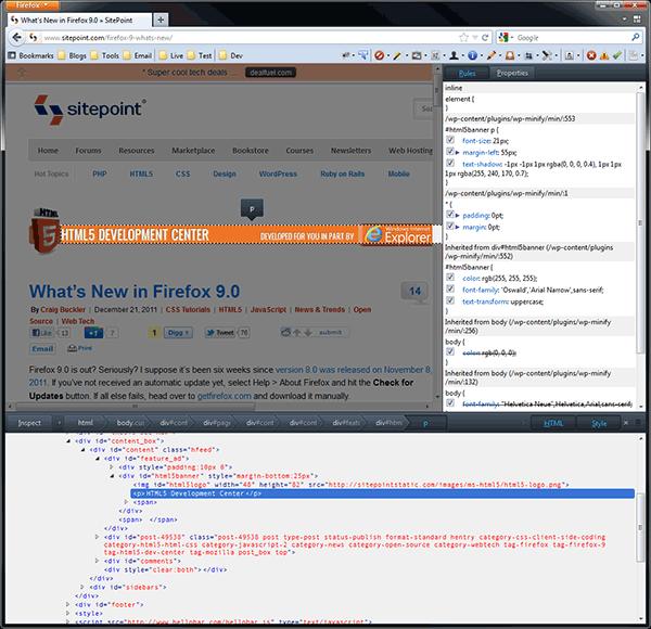 Firefox Inspector