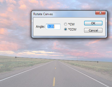 Photoshop ruler rotations