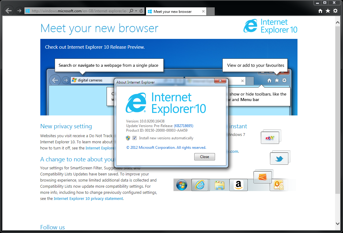 IE10 Windows 7