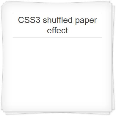 shuffled paper