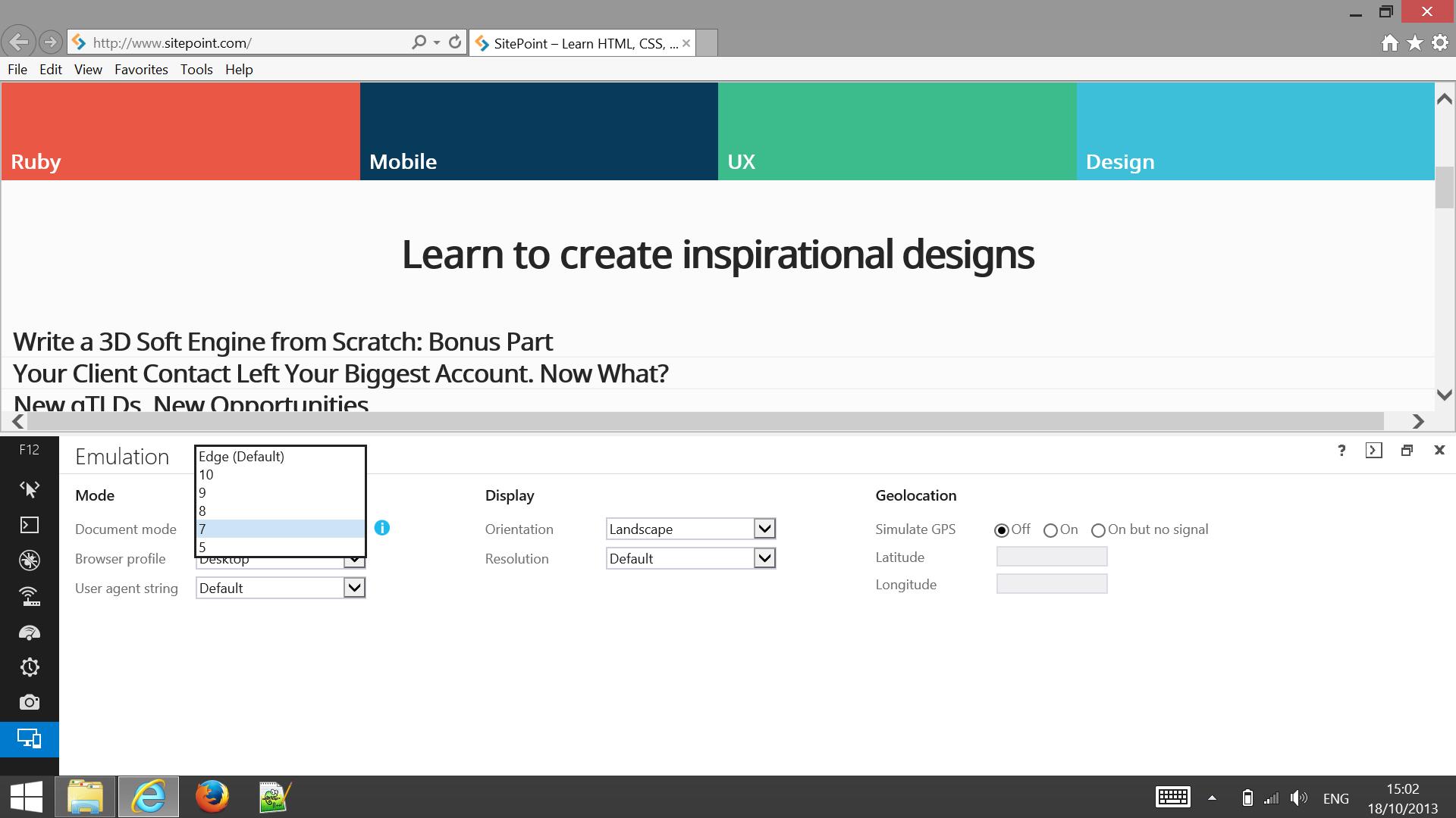 Internet Explorer Through Run Ie Browser Modes Return Full