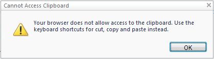 Office Firefox copy alert