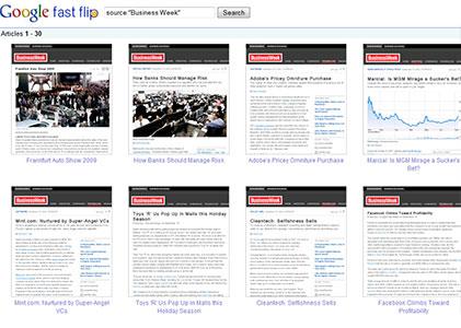 Google Fast Flip topic view