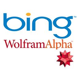 Bing and WolframAlpha