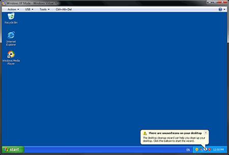 A Fresh Windows XP Desktop