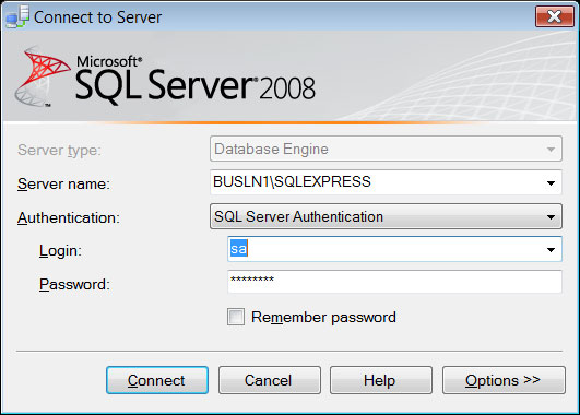 Connecting to a server instance