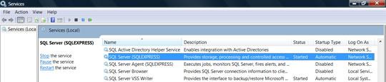 SQL Server is running