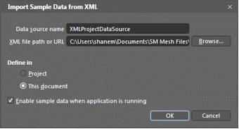 Importing sample data