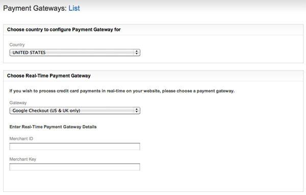 Configuring Payment Gateways