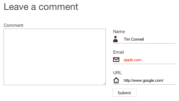 A spruced-up comment form