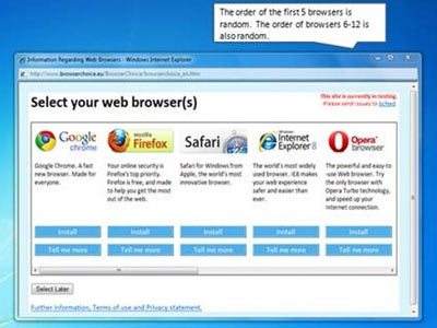 browser choice screen