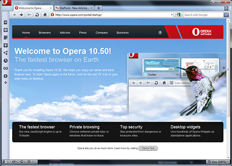 Opera screen
