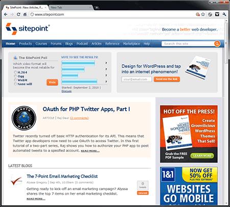 Chrome 6 screenshot