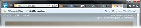 IE9 screenshot