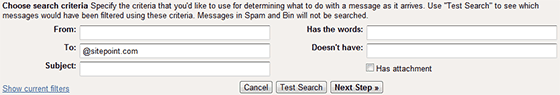 GMail email auto-responder filter