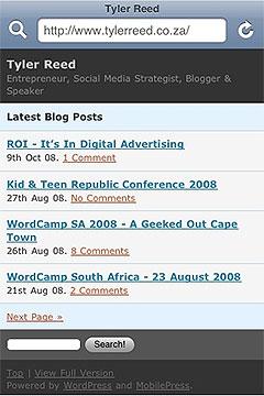 WordPress MobilePress