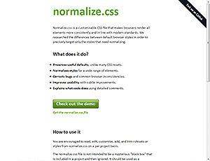 normalize.css screenshot