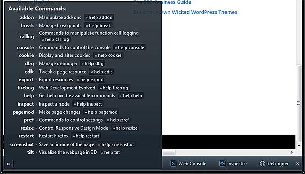 Firefox Developer Toolbar